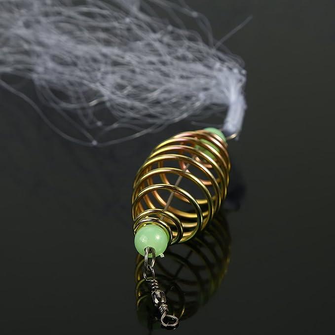 Zubeh/ör f/ür Nacht-Angeln Alomejor Kupfer-Feder mit Luminous-Perlen