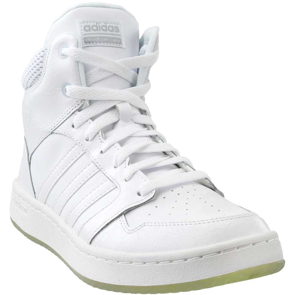 adidas Neo Women's CF Superhoops Mid W Basketball.5Shoes, White/White/Matte Silver, 9.5 M US