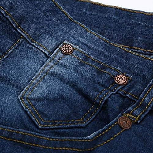 Dunkelblau Uomo Slim Comode Fit Glich Pantaloni Color Stretch Taglie Jeans Motociclista Da Fashion Solid Aderenti Abiti Pants Skinny Ewxq4tSTg