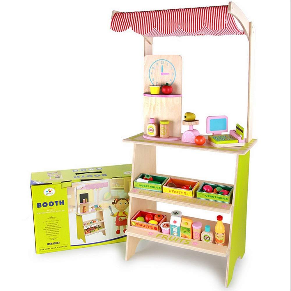 幼児教育用おもちゃ ブースのおもちゃの現金登録と偽りのスーパーマーケットのストール子供のための食料スケールの食料品子供3 + B07KXVSWP2