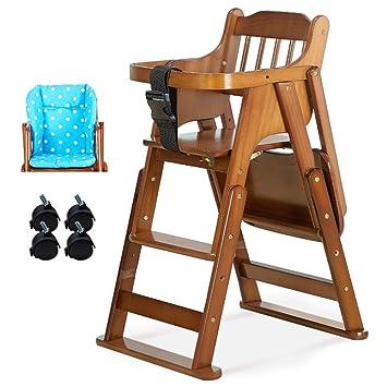 Lxla Chaise Haute Pour Bebe En Bois Reglable En Hauteur Chaise