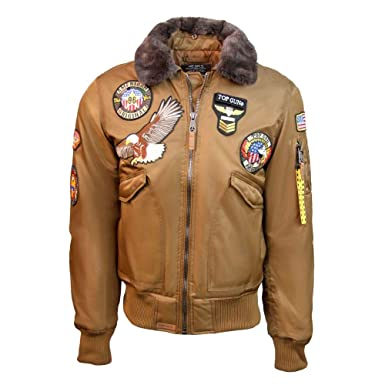 0d6d82c23b5 Image Unavailable. Image not available for. Color  Top Gun MA-1 American  Original Bomber Jacket ...
