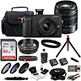 Panasonic LUMIX GX85 4K Mirrorless Kit, 12-32mm Lens w/G Vario H-FS45150AK Lens + 32GB Acc Kit (2 Lens Kit)