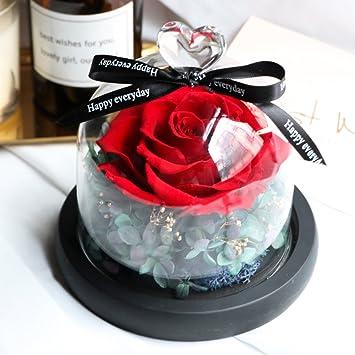 Dekorationen,Ewige blume geschenk-box Glasabdeckung diy dekoration ...