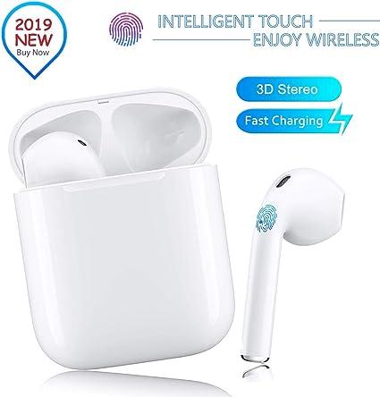 Auriculares deportivos inal/ámbricos Auriculares est/éreo 3D Auriculares Bluetooth Auriculares In-Ear inal/ámbricos con mini estuche de carga port/átil para Apple Android // AirPods Pro // iPhone
