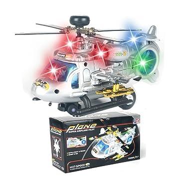 Juguetes Eléctrico Luz Música Rorychen Aviones Y Con Montar 3d rxBdECWoQe
