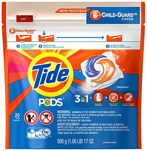 Tide PODS HE Laundry Detergent Pacs - Original - 20 ct