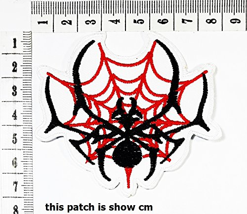 Spider Costume Diy (Spider web lady patch Motorcyle Bike Novelty Tattoo patch Motorcycle Bike lron patch / logo Sew On Patch Clothes Bag T-Shirt Jeans Biker Badge Applique)