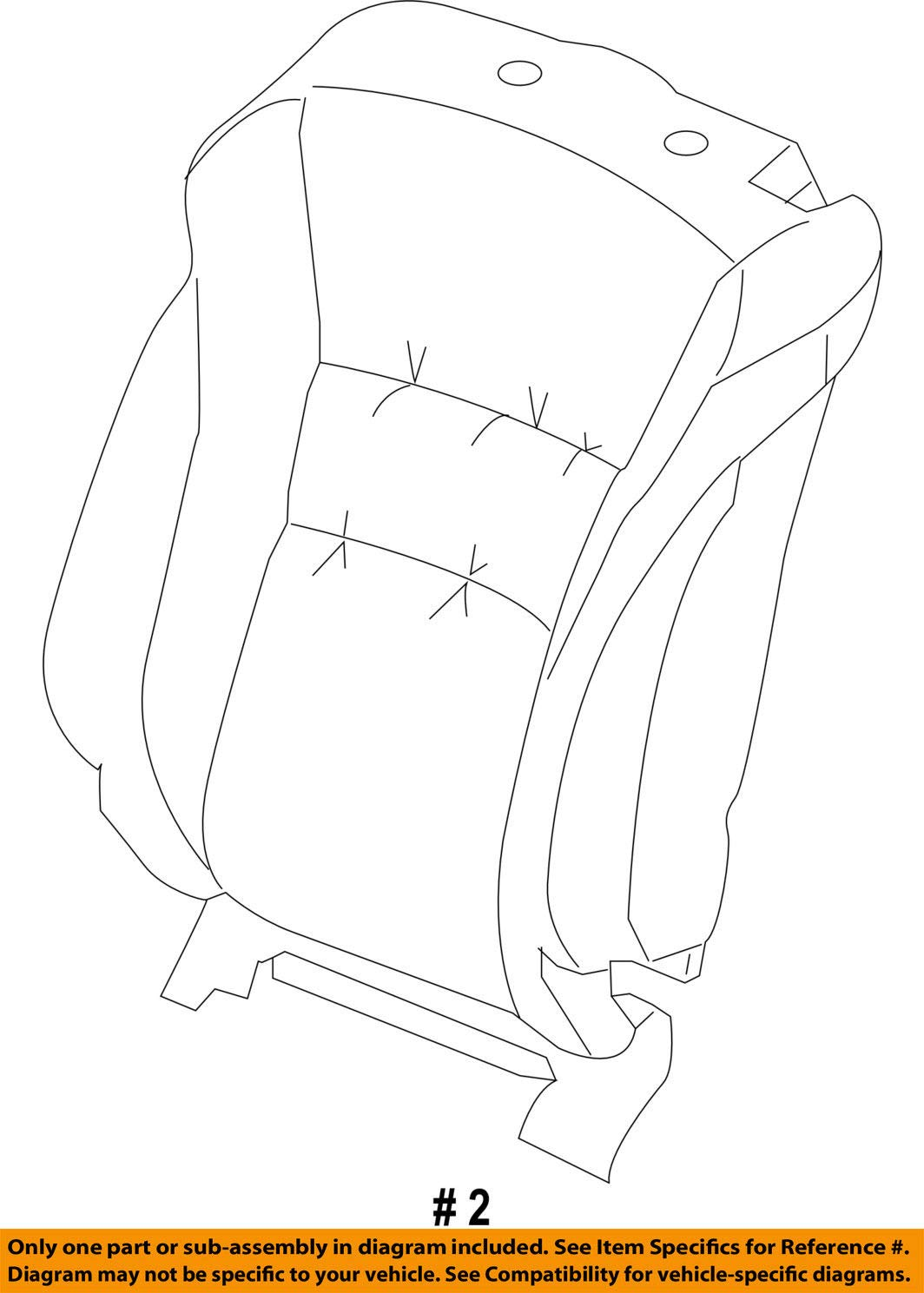Honda Genuine 81521-T3L-A01ZA Seat Back Trim Cover Left Front