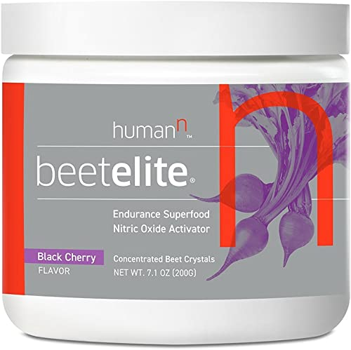 HumanN BeetElite Superfood Concentrated Beet Powder Nitric Oxide Boosting Athletic Endurance Supplement Black Cherry Flavor