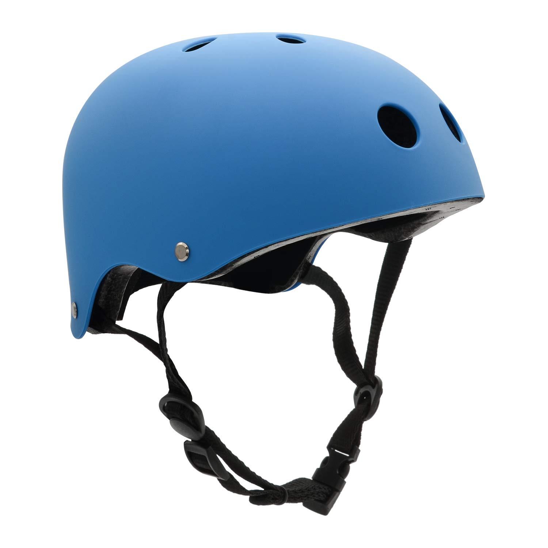 訳あり商品 大人用 スケートボード 保護 自転車 ヘルメット 11通気口 調節可能なストラップ 保護 スキー バイク サイクリング サイクリング ヘルメット マルチカラー ライナー 自転車 スケートボード アウトドアスポーツ用 B01LCNSYJC L ブルー ブルー L, GALLERIA:5be0c252 --- a0267596.xsph.ru