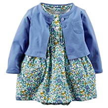 Carters Baby Girls' Floral Cardigan Dress Set (3 Months)