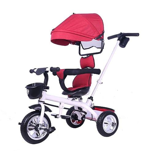 LZTET Sillas De Paseo Travel Systems Carrito De Bebé De Tres Ruedas Plegable Pedal para Bebés