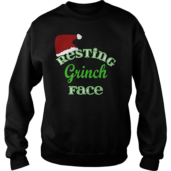 450122ee811 BamaProud Resting Grinch Face Christmas Christmas Sweater (XL) - Christmas  Sweatshirt Men Women