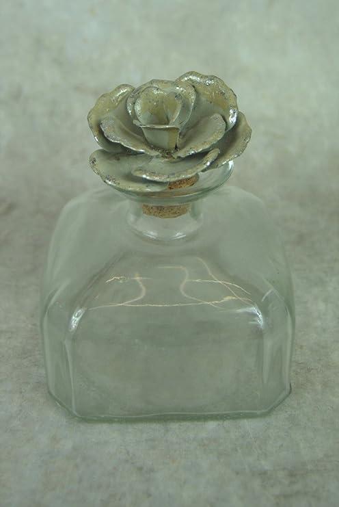 Estilo de la vendimia botella de cristal con tapón de Metal rosa