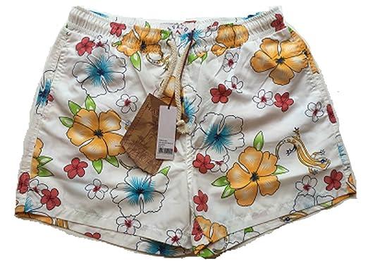 a883c84f15 Mens Havacoa Swim Shorts Surf Shorts White Floral/Reptile Size Small: Amazon .co.uk: Clothing