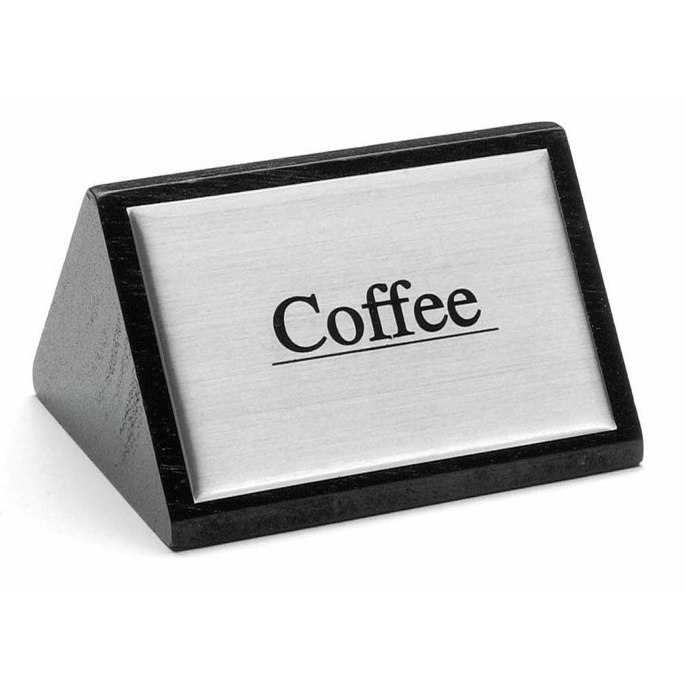 HUBERT Coffee Service Sign Triangular Wooden Beverage Sign Coffee - 3''W x 1 3/4''H by HUBERT