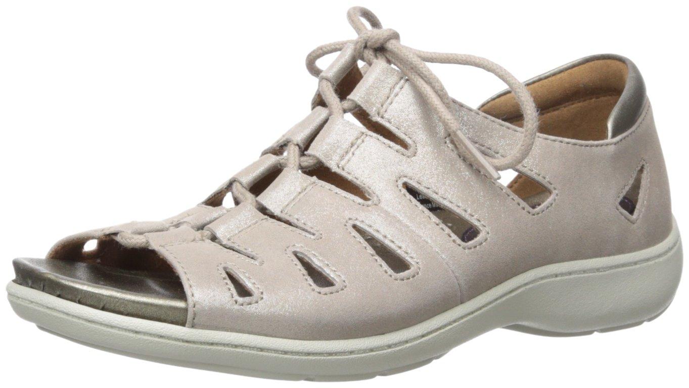 Aravon Women's Bromly Ghillie Flat Sandal B01ITXJ6AO 6 2E US|Taupe
