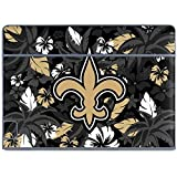 Skinit NFL New Orleans Saints Galaxy Book Keyboard Folio 10.6in Skin - New Orleans Saints Tropical Print Design - Ultra Thin, Lightweight Vinyl Decal Protection