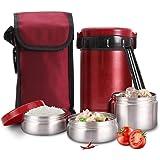 Amazon.com: Caliente caja de 🔥 almuerzo 18/8 de acero ...