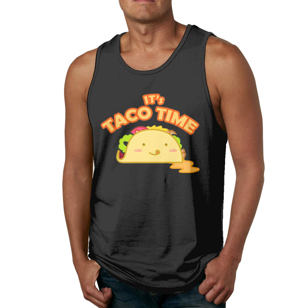 Design With Design With Taco Time Gym Bodybuilding Sleeveless Shirts