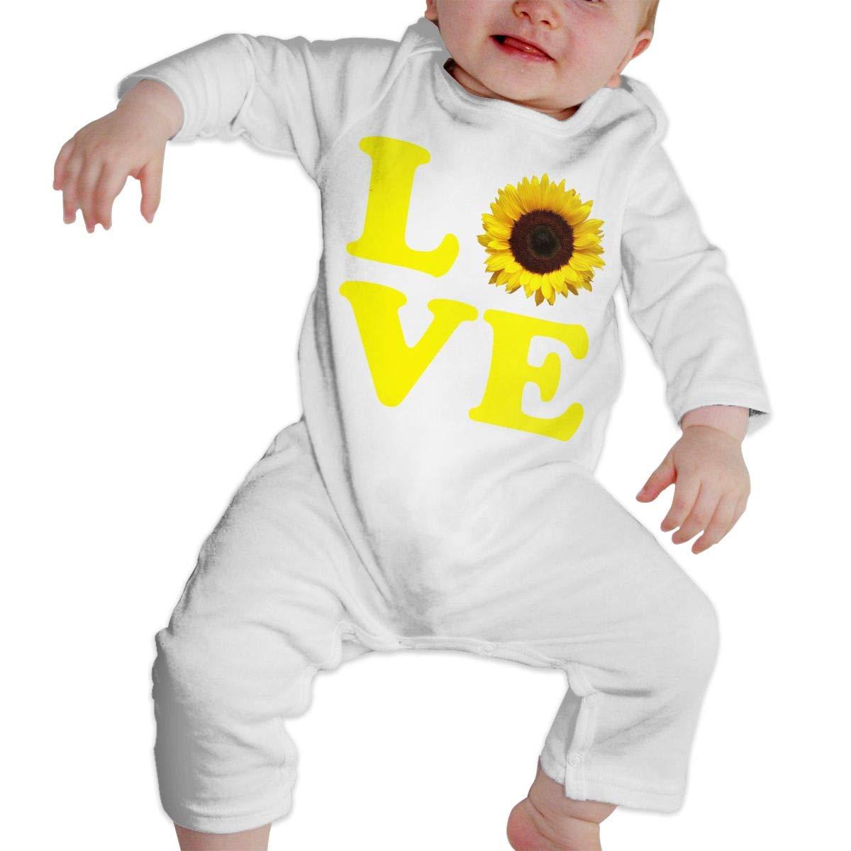 Baby Girl Organic Coverall Love Sunflower Kid Pajamas