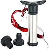 WBSEos Wine Saver Preserver Pump with 2 Vacuum Bottle Stoppers
