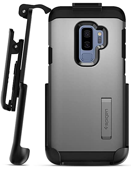 new concept 04e92 60793 Belt Clip Holster for Spigen Tough Armor Case - Galaxy S9 Plus (Encased)  Secure Fit Rotating Holster (case not Included)