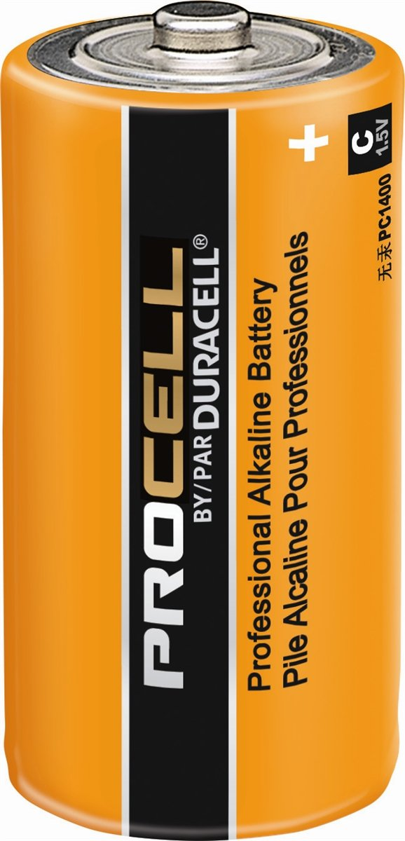 Pack of 30 Duracell PC1400 Procell C Size Alkaline Battery - Bulk Pack