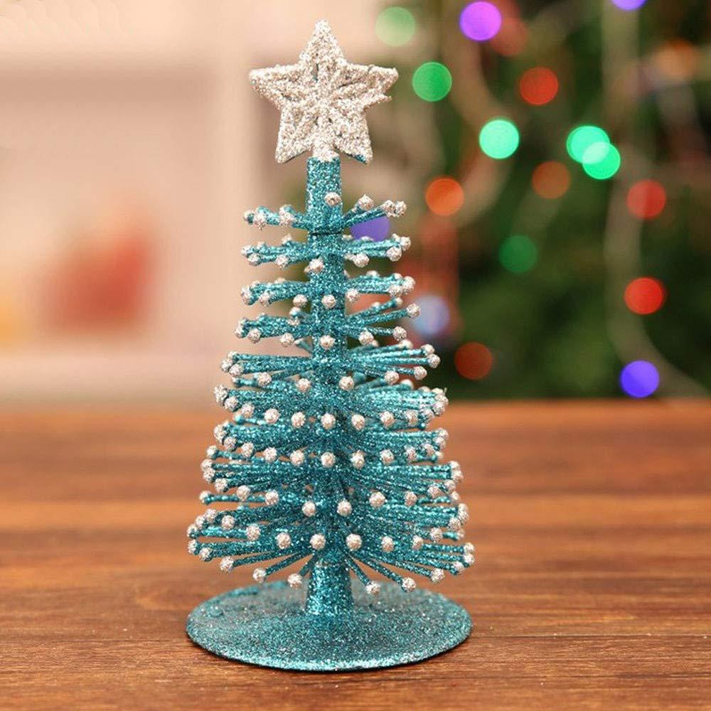 Zolimx Mini Albero di Natale, 1 PC da Tavolo Mini Albero di Natale Decorazioni Festival in Miniatura Natale Albero Artificiale,Regalo di Natale di Natale Decotion