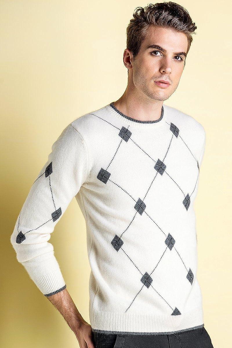 织礼 Zhili Cashmere Mens Crew-Neck Sweater Thickening
