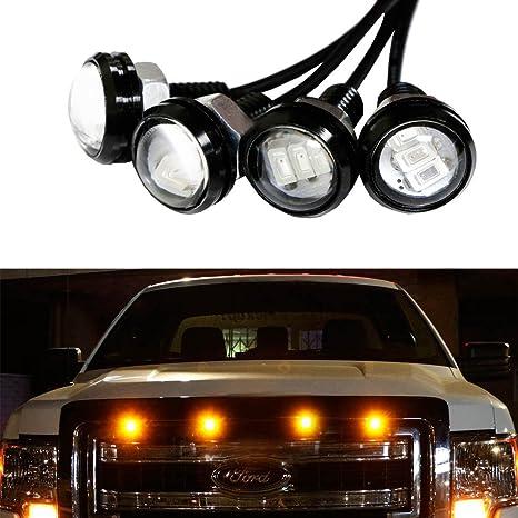 iJDMTOY 4pc Ford Raptor Style 3000K Amber LED Lighting Kit For Chevy Dodge Ford GMC Truck  sc 1 st  Amazon.com & Amazon.com: iJDMTOY 4pc Ford Raptor Style 3000K Amber LED Lighting ...