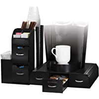 2-Piece Mind Reader Combine Coffee Station Organizer