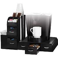 Mind Reader Single Serve Coffee Pod Drawer and Condiment Organizer Station 20 x 14 x 12 CMB02-BLK