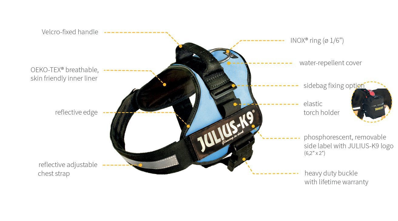Julius-K9 Powerharness, 1, Silver