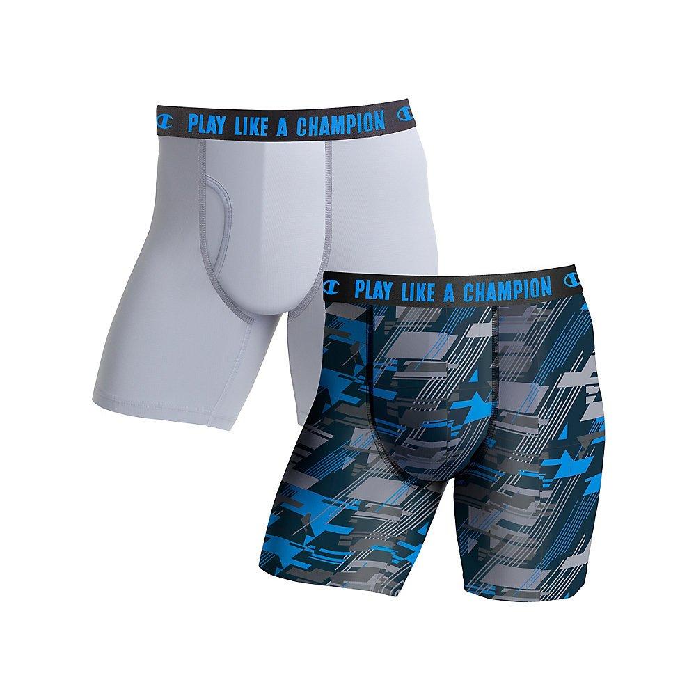 Champion Mens Ultra Lightweight Regular Leg Boxer Brief 2-Pack