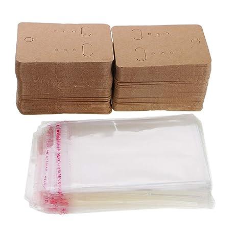 IPOTCH 200 Pcs Bolsas de Plástico y Papel para Guardar Joyas ...