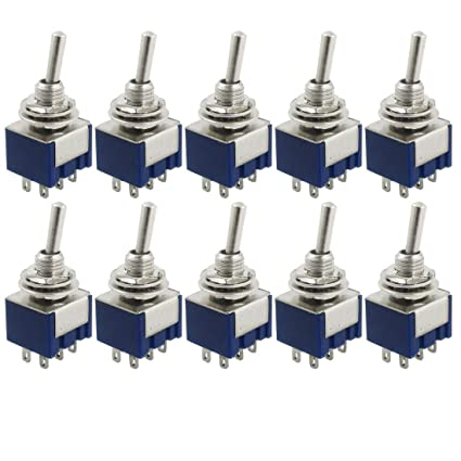 Good Ac125v 6a Dpdt On-on 2 Positions 6 Pin Latching Miniature Toggle Switch 20pcs Home Appliance Parts Home Appliances