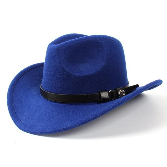 d4801279c3 SMC Hat - Sombrero de cowboy - para mujer Azul azul 56 cm-58 cm  Amazon.es   Ropa y accesorios