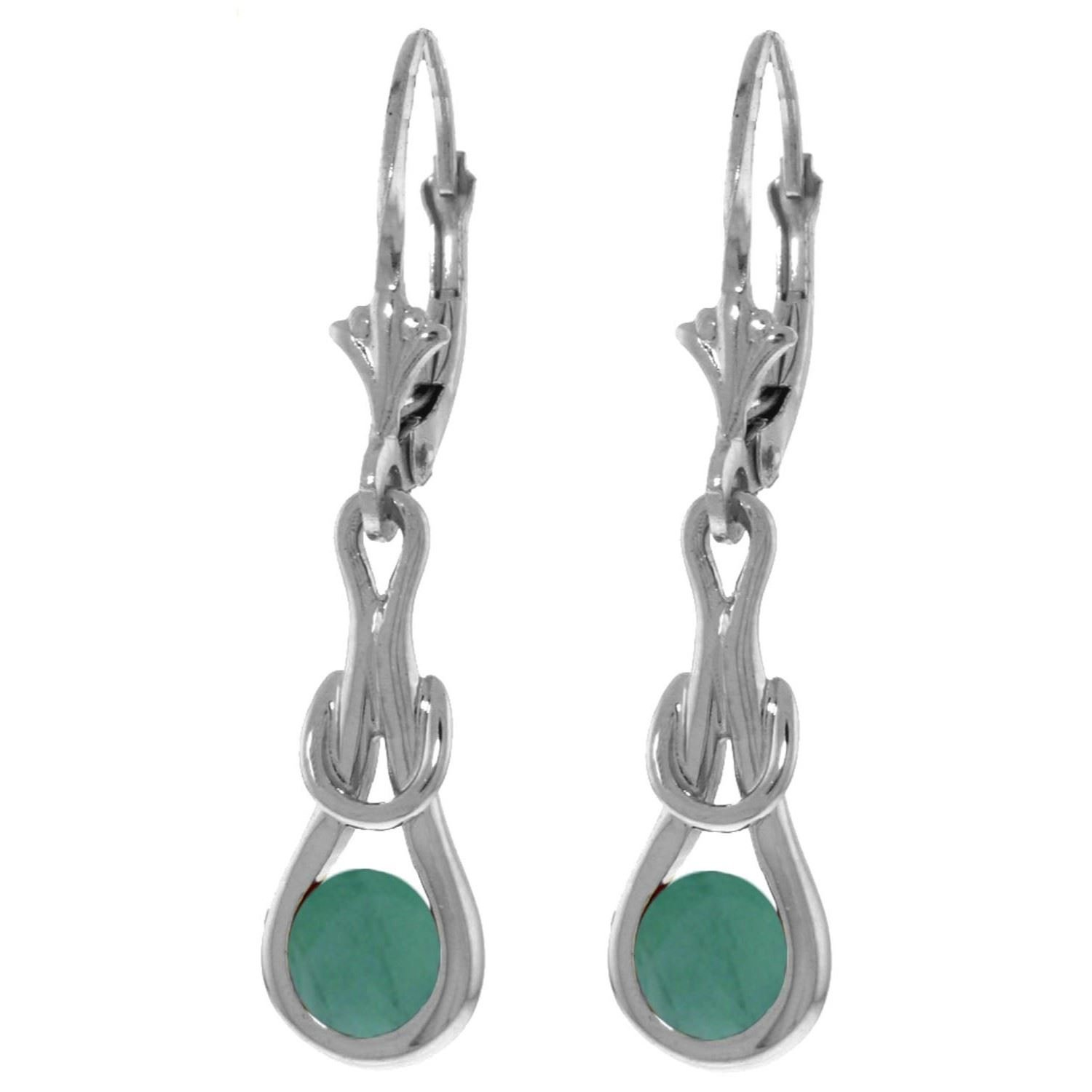 ALARRI 1.3 Carat 14K Solid White Gold Then There Was Love Emerald Earrings