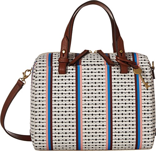 Fossil Rachel Satchel Handbag, Ecru Multi Stripe,One Size