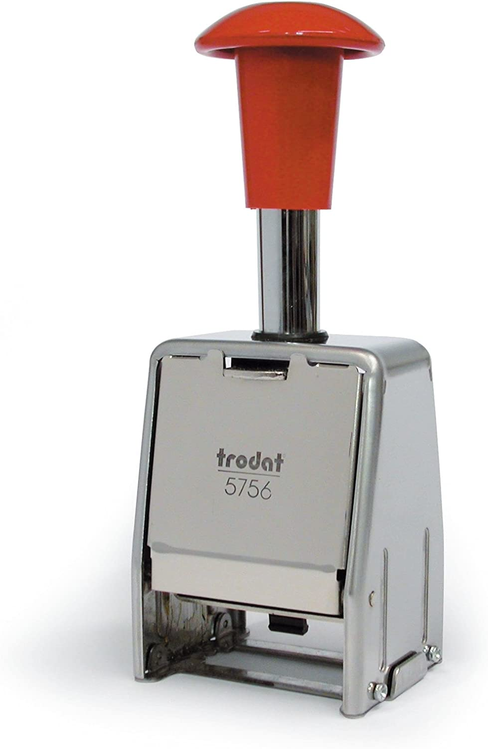 Trodat Numberer Stamp Metal Sequential Automatic Self-inking 8 Adjustments 5.5mm Digits Ref 86624