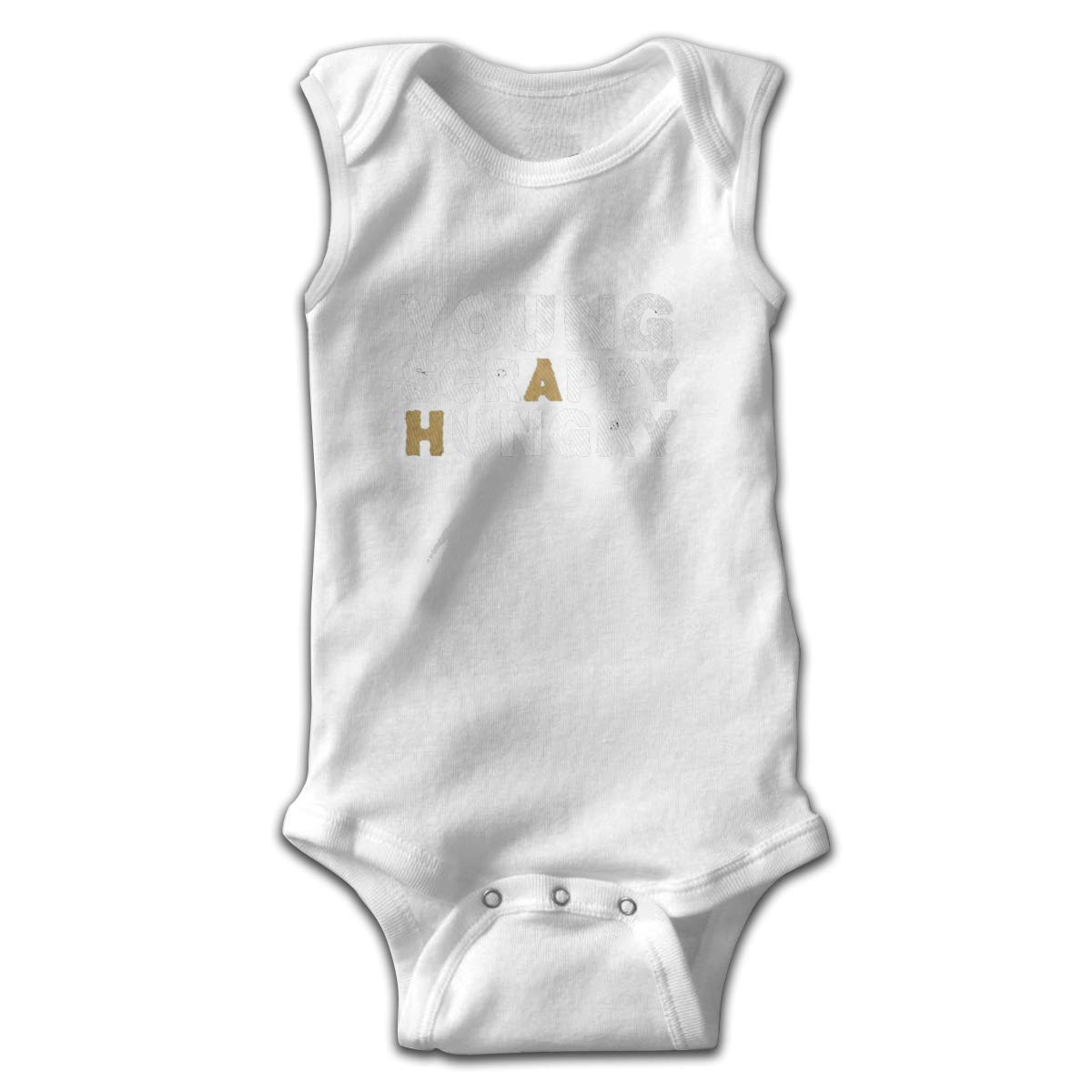 Young Scrappy Hungry Smalls Baby Onesie,Infant Bodysuit Black