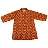Boys Clothes Cotton Jaipuri Block Printed Buttoned Baby Boys Ethnic Kurta