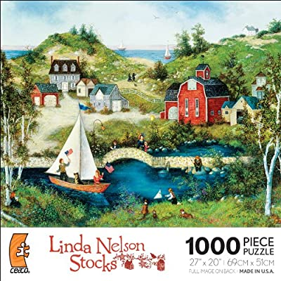 Linda Nelson Stocks Sasha Salutes The Flag 1000 Piece Jigsaw Puzzle By Ceaco
