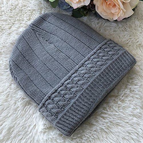 sombreros Light MASTER Sombreros gris tapas tejidos Los Sombreros hombres engrosada hombre tejidos Halloween sombreros sombreros oscuro Navidad Invierno beanie Otoño Gray caliente de qwfSO1