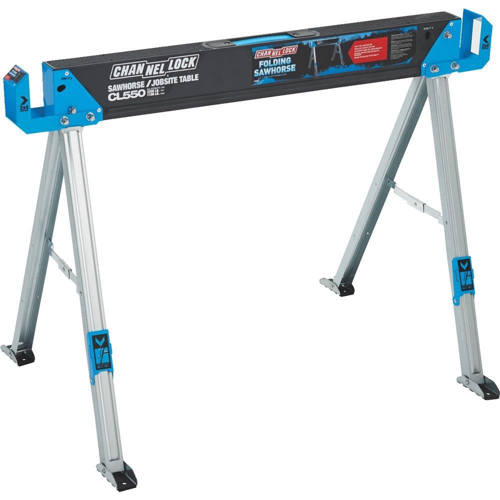 L Steel Folding Sawhorse Channellock 46-1//2 In
