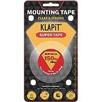 KLAPiT SUPER TAPE Slim 3 Meter Holds 150LB/68kg, Uses Enhanced Nano Technology CLEAR & STRONG Magic Improvement Double…