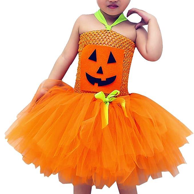 5907314622c0 Amazon.com: Newborn Baby Pumpkin Tutu Dress Halloween Princess Costumes for  Girls: Clothing