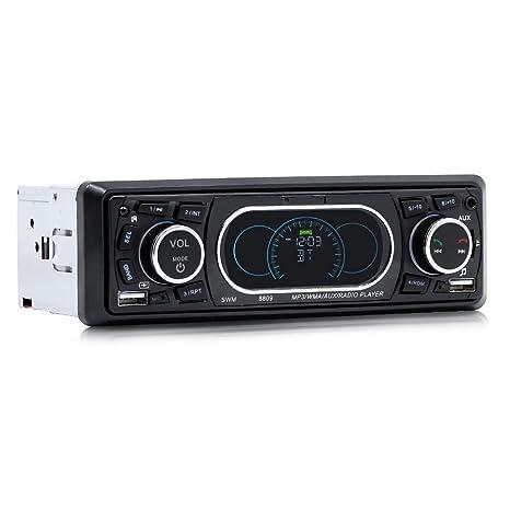 Docooler SWM 8809 Reproductor de MP3 para coche Bluetooth Reproductor de audio estéreo con radio FM